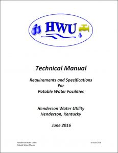 Potable Water Technical Standards